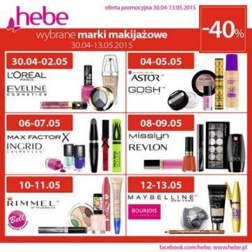 Oferta promocyjna sklepu kosmetycznego hebe
