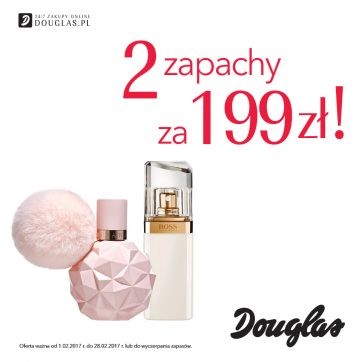 2 zapachy za 199 zł w perfumeriach Douglas