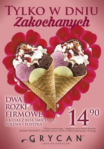 Walentynki w lodziarnio-kawiarni Grycan!