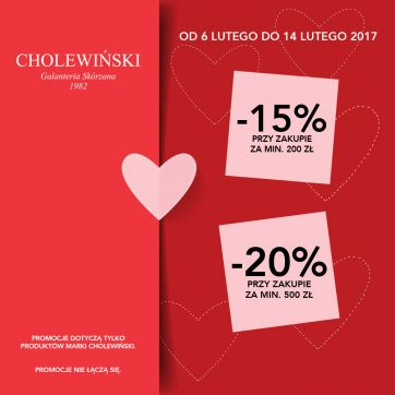 Walentynkowa promocja w salonie Cholewiński