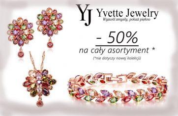 Wiosenne rabaty w Yvette Jewelry aż -50%