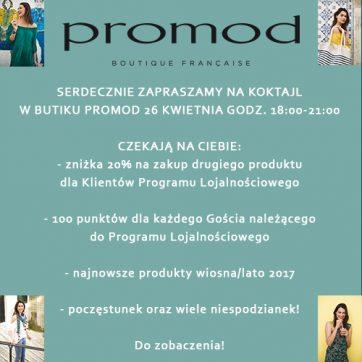 Koktajl w butiku Promod