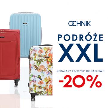 Ochnik: Duże walizki 20% taniej!
