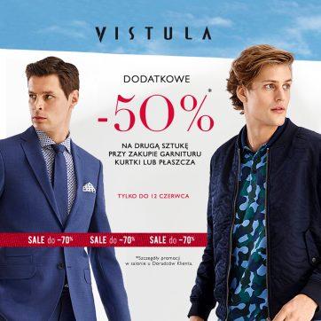 Dodatkowe -50% na drugą sztukę w salonie Vistula!