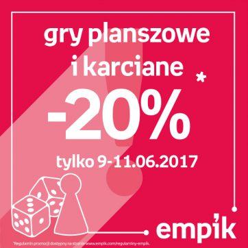 Gry planszowe i karciane -20% w Empiku!