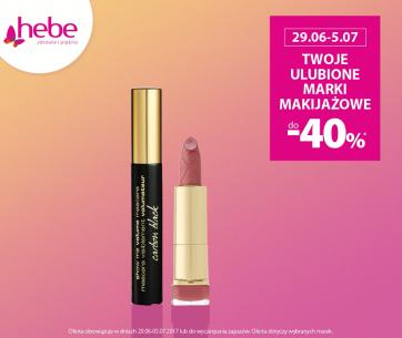 Twoje ulubione marki makijazowe do -40% w Hebe