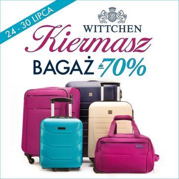 Kiermasz bagażowy w Wittchen Travel