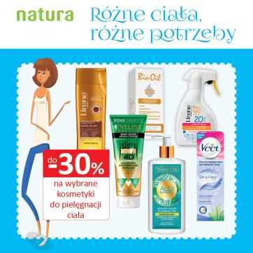 -30% na wybrane kosmetyki w drogerii Natura