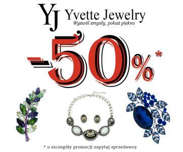 Wielka wyprzedaż biżuterii w Yvette Jewelry. Rabaty aż do 50%!