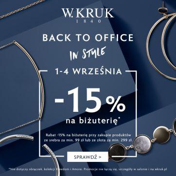 Back to Office in Style – 15% na piękną biżuterię od W.KRUK