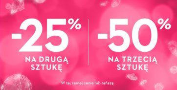 -25% na drugą sztukę i -50% na trzecią sztukę w Salonach YES!