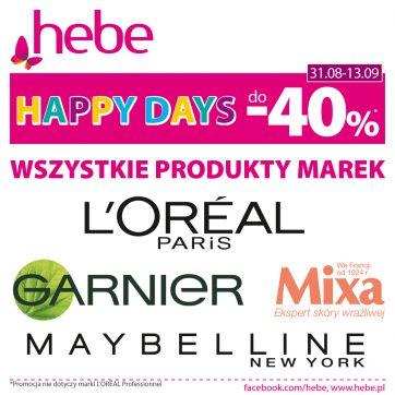 Happy Days do -40% w Hebe