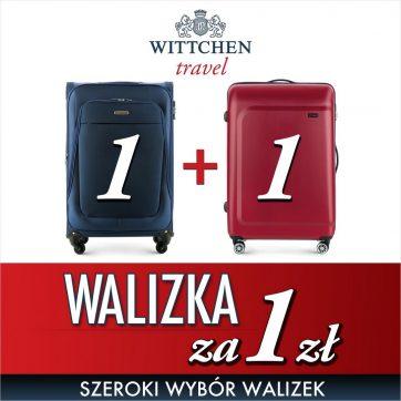 Walizki za 1 zł w Wittchen!