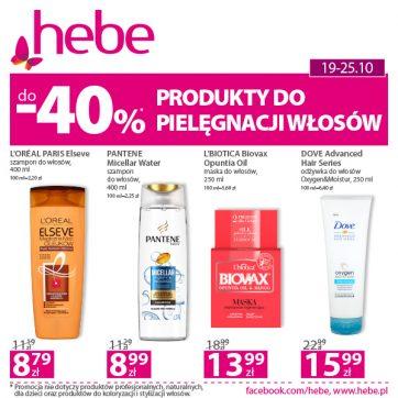 Produkty do pielęgnacji włosów do -40%*