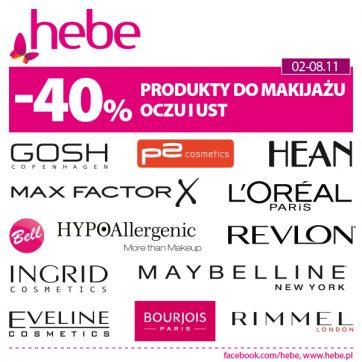 Produkty do makijażu oczu i ust -40%*