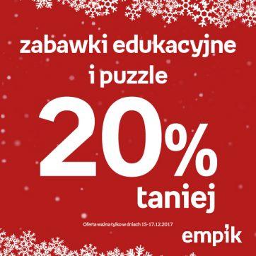 Zabawki edukacyjne i puzzle 20% taniej w Empiku