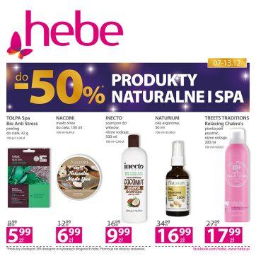 Produkty naturalne i SPA do -50% w Hebe