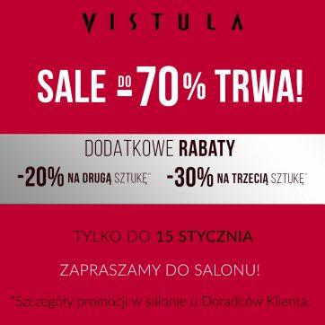 Wyprzedaż do -70% w salonie VISTULA!