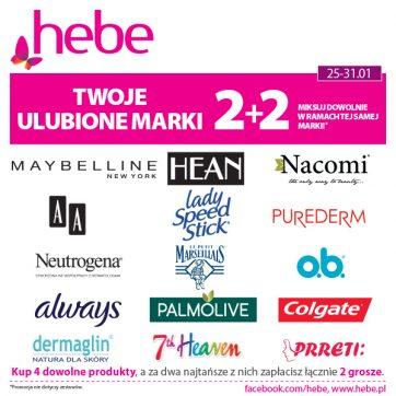 Twoje ulubione marki 2+2 w Hebe