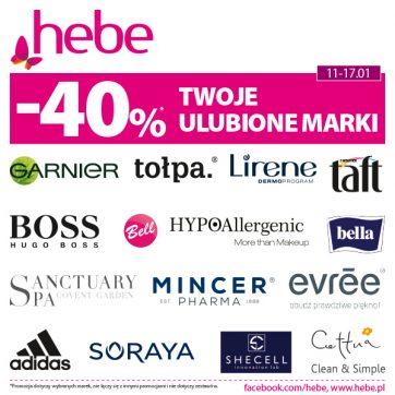 Twoje ulubione marki -40% w Hebe