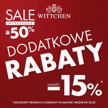 Dodatkowe rabaty w Wittchen