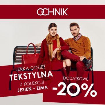 OCHNIK: Lekka odzież tekstylna dodatkowe -20%