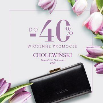 Wiosenne promocje w salonach Cholewiński!