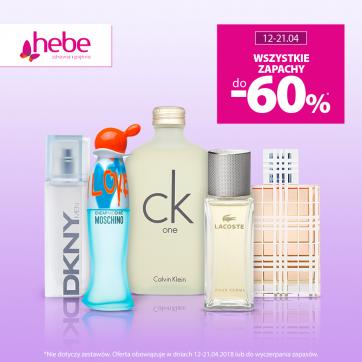 Wszystkie zapachy do -60%* w Hebe