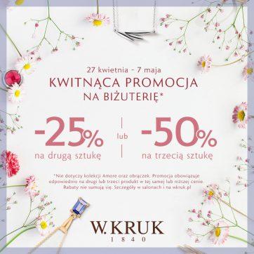 Kwitnąca promocja na biżuterię od W.KRUK