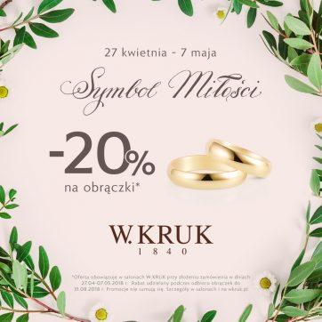 Symbol miłości W.KRUK – oferta specjalna na obrączki