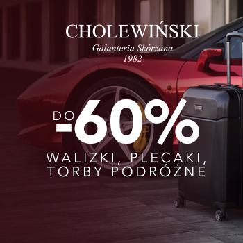 Walizki, plecaki i torby podróżne teraz do 60% taniej w Cholewiński