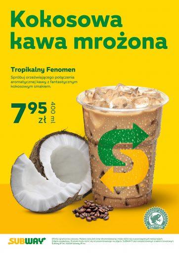 Mrożona kawa kokosowa ponownie w restauracjach Subway!