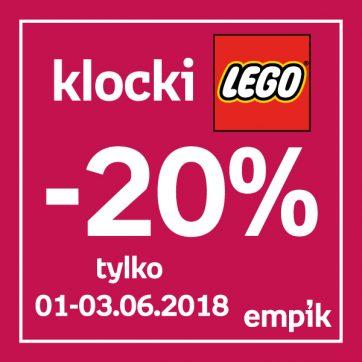 Klocki Lego 20% taniej w salonie Empik
