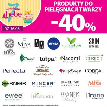 Produkty do pielęgnacji twarzy -40% w Hebe