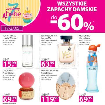 Wszystkie zapachy damskie do -60%*