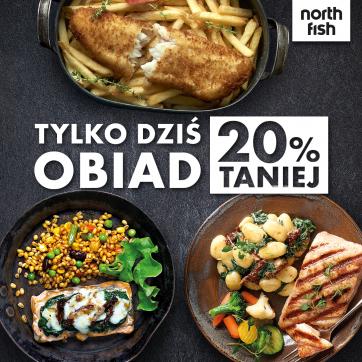 20% rabatu na obiad w North Fish!