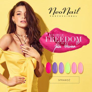 Kolekcja lakierów hybrydowych Colors of Freedom by Julia Wieniawa w NeoNail