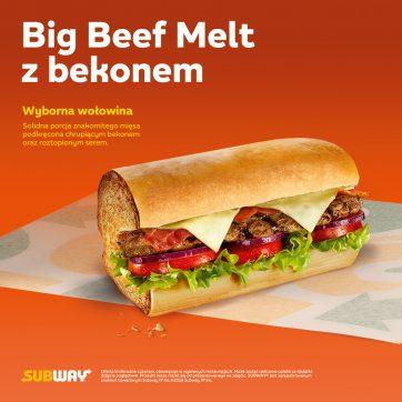 Big Beef Melt z bekonem w restauracjach Subway®!