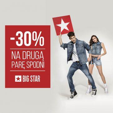 Big Star – druga para spodni 30 % taniej