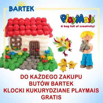 Wakacyjna niespodzianka w sklepach BARTEK – baw się razem z PLAYMAIS i BARTEK .