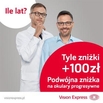 Ile lat, tyle zniżki + 100 zł rabatu w salonach Vision Express