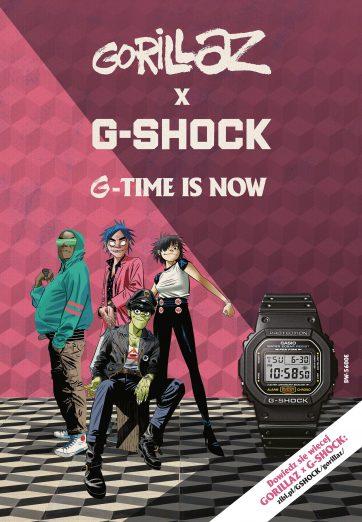 2 X G! Ekskluzywna współpraca GORILLAZ X G-SHOCK w Time Trend