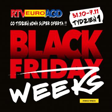 BLACK FRIDAY WEEKS TYDZIEŃ 1 w RTV Euro AGD