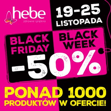 BLACK FRIDAY/BLACK WEEK -50% HEBE