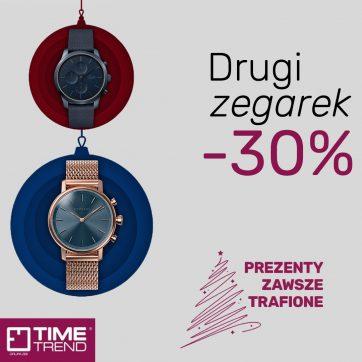 Drugi zegarek -30%