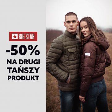 Promocja w Big Star -50% na drugi produkt.
