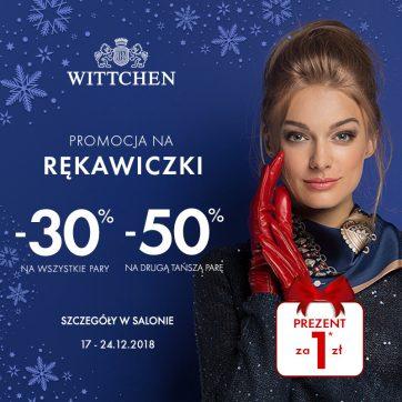 WITTCHEN – Rękawiczki  -50% na drugą i każdą kolejną parę.