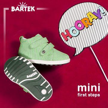 Pierwsze kroki w bucikach z salonu Bartek