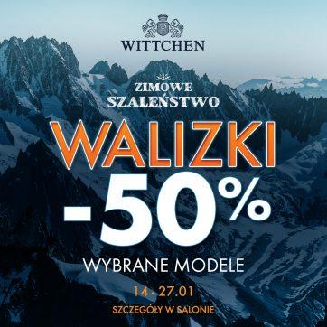Zimowe szaleństwo – walizki  -50%   !