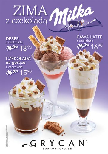 Zima z czekoladą Milka u Grycana!